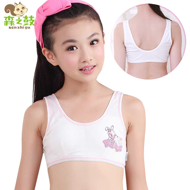 d67b6ec89f Kids Bras The New Model Of Drum Girls Bra Cotton Students Development  Period Vest Style Sports Underwear Children s Wholesale
