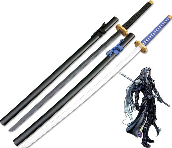 Us 62 19 5 Off Anime Final Fantasy Sephiroth Sword Cosplay Props Wooden Sword Samurai Katana Christmas Decorative Cosplay Prop Free Shipping In