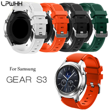 LPWHH Silicone Watch Band Strap For Samsung Gear S3 Classic Smart Sports Pin Buckle Solid Soft Watchbands Black Red Green