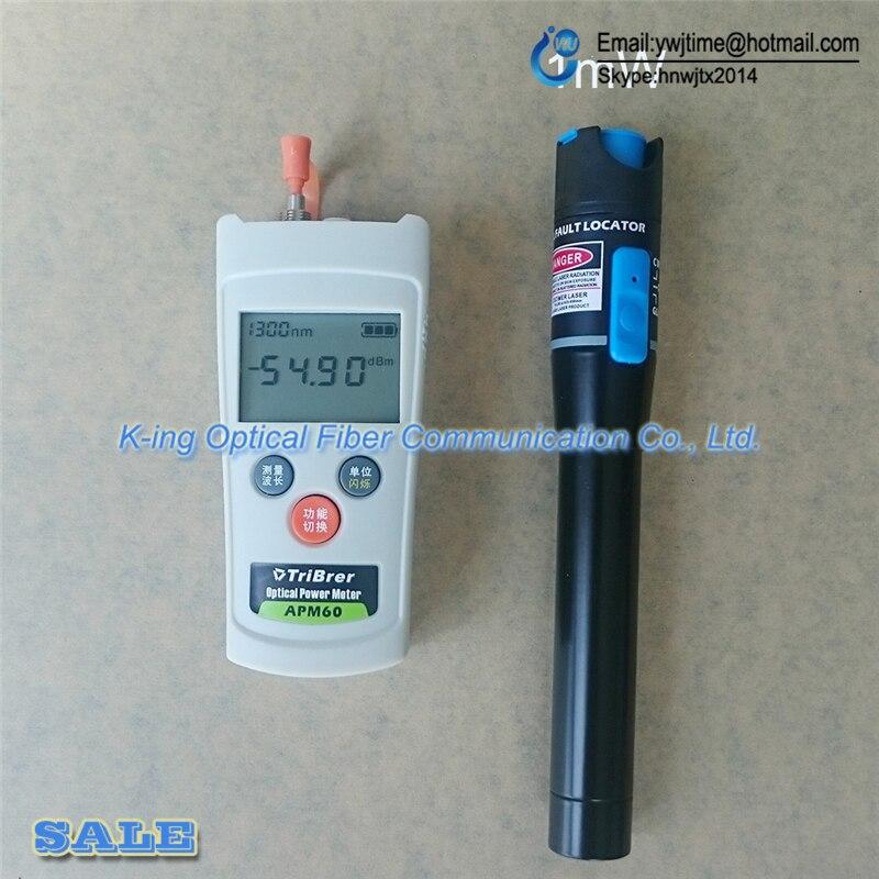 Mini 2 en 1 FTTH Fibra Kit de herramienta óptica Fibra medidor de potencia óptica-70 + 10dbm y 5 km 1 MW Localizador Visual Fibra óptica pluma prueba