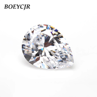 BOEYCJR Custom D Color Pear Cut Waterdrop Brilliant Cut Moissanite Loose Stone Excellent Cut Jewelry Making Engagement Ring