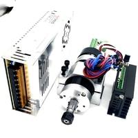 Бесщеточный 500 Вт ЧПУ шпинделя Двигатель ER11/ER16 DC Шпиндели + 55 мм ЧПУ зажим + Двигатели + питание