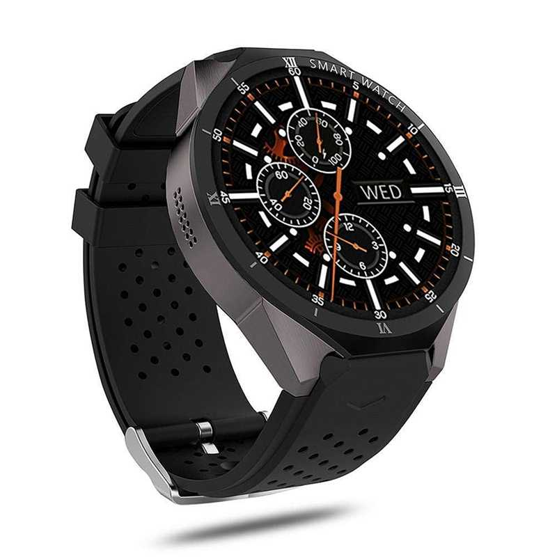 Kingwear Kw88 Pro 3G Smart Watch Android 7.0 Quad-Core 1.3 GHz 16 GB WIFI GPS 2Mp Kamera monitor Denyut Jantung 3G Smart Watch Mobil