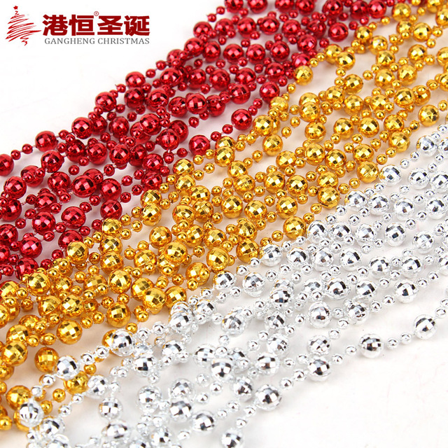 2.4M Christmas Tree Bead Chain Decorative Present Hanging Chains Garland  For Christmas Decoration Christmas Tree