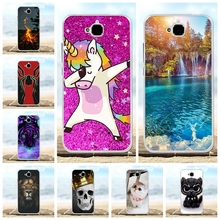 For Huawei Y6 Pro Cover Soft TPU Silicone Honor Play 5X Case Scenery Patterned Enjoy 5 Holly 2 Plus Capa