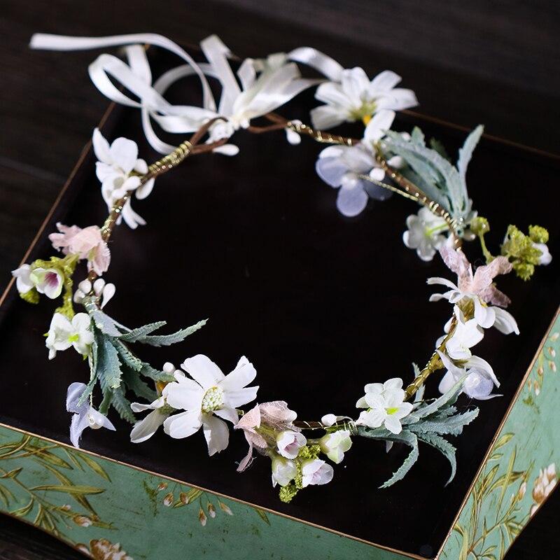 New Fashion Women Lady Girls Wedding Flower Wreath Crown Headband Floral Garlands Hair Band Hair Accessories Bride Hairband