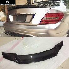 W204 Real C63 AMG R СТИЛЬ Задний спойлер из углеродного волокна крылья для Mercedes Benz W204 C63 автомобильный Стайлинг 12-14