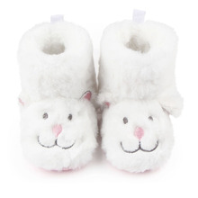 Winter Comfortable Flock Cute Rabbit Cotton Fabric Warm Baby Girls Boots Shoes For 0-15 Months