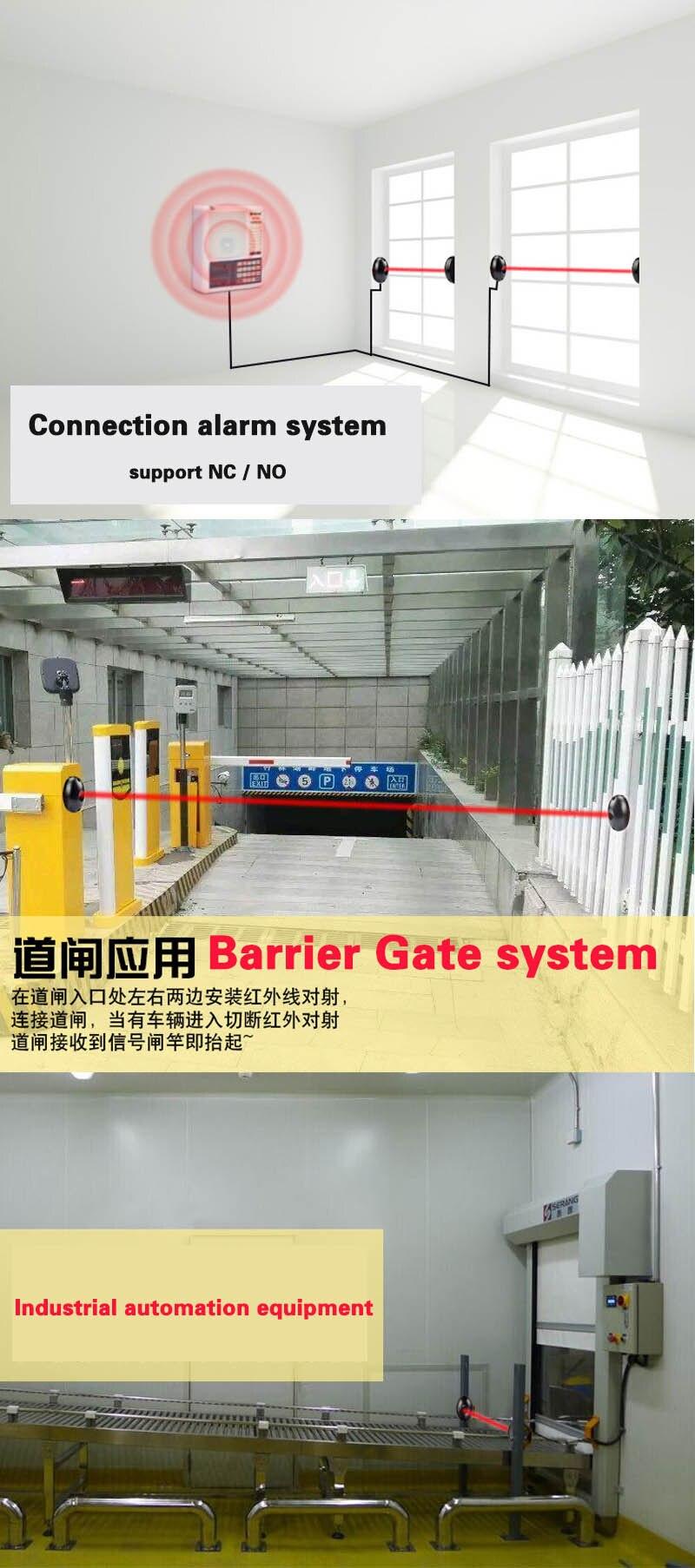 sensor de feixe infravermelho barreira detector para