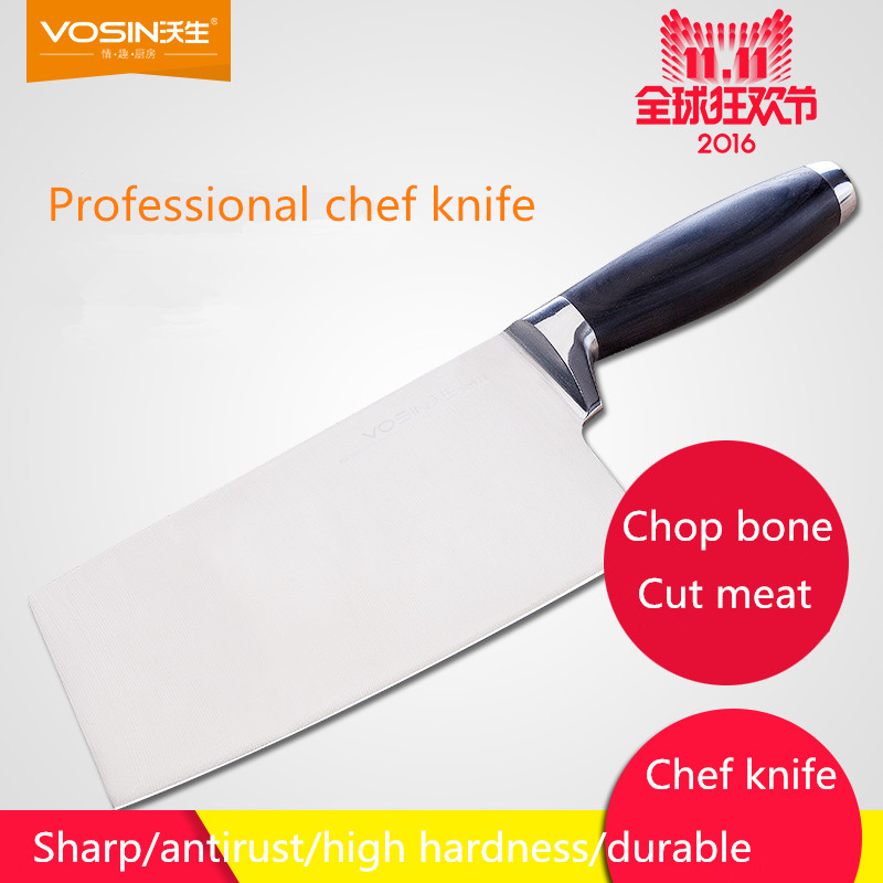 Free Shipping VOSIN Stainless Steel Kitchen Chef Cutting Meat Vegetable font b Knives b font Household