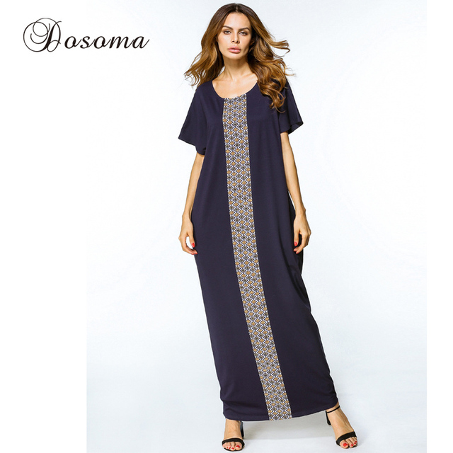 Women Maxi Dress Cotton Abaya Plus Size Long Robe Embroidery Dubai Casual  Muslim Kimono Burka Kaftan Islamic Middle East Arab c4c38ee73
