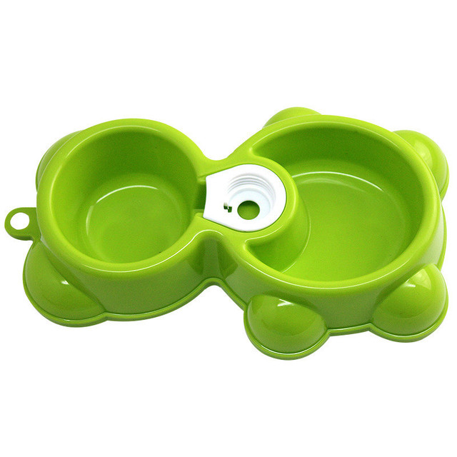 2016 colorful double dog bowl feeder plastic auto water dog feeder bowl dish for small medium dog cat drop shipping