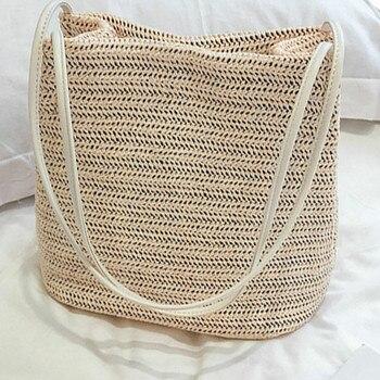 4aa161223 Mujer de paja playa mensajero bolso elegante dama bolsa de hombro Hawaii  bolsas