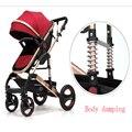 China barato carrinho de bebê carrinho de criança de luxo hot mom crianças Carrinho de Bebê Carrinhos para recém-nascidos frete grátis para a Rússia
