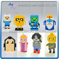 Mini Qute WTOYW ATOM Adventure time Finn Jack El Hielo Pingüino Rey diamante bloques de construcción de juguete educativo modelo de dibujos animados