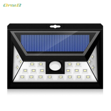3 Mode 24 Leds Outdoor Led Garden Solar Powered Step Lights Solar Pir Wall Light Waterproof 3-Sided Illumination цена