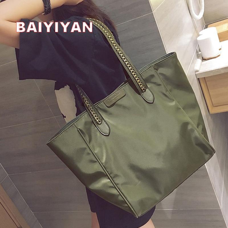 750f945c67 Women Nylon Handbag Causal Tote Bag Large Capacity Shoulder bag Shopping Luxury  Handbags Women Bags Designer Bolsa Feminina