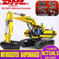 DHL 20007 Technic serie de coches Compatible con 8043 excavadora modelo Kit de construcción bloques de Motor de ladrillo de juguete para niños como regalo modelo