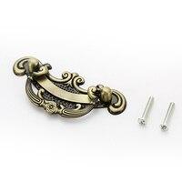 64mm Center To Center Furniture Handle Antique Brass Zinc Alloy Cabinet Handle