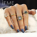 IF ME New For Women 4 Pcs/Set Gold Color Rings Punk Fashion Love Wedding Party Vintage Charm Men Silver Color Jewelry Bijoux