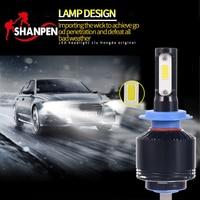 2pcs H7 H8 H11 9005 9006 H4 COB 8000LM 72W High Power LED Car Headlight Front