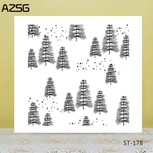Christmas trees/pine Transparent Silicone Stamp for DIY Scrapbooking/Photo Album Decorative Card Making Clear Stamps Supplies