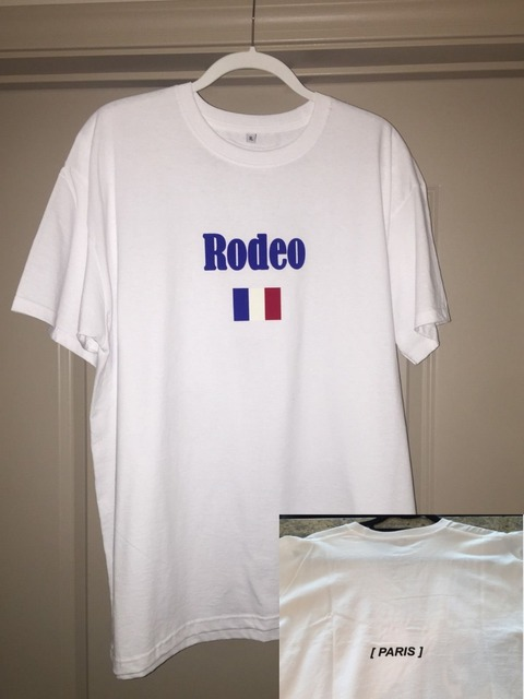 Scott Travis Loucura Paris Tour T-Shirt Cowboy de Rodeio Rodeio Resfriamento T Camisas dos homens