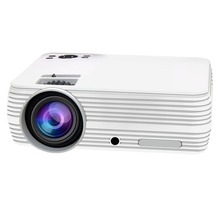 T5 Smart Wireless Wifi Hd Led Projector Home Mini Micro Portable Mobile Phone Projection Screen Projection EU-White