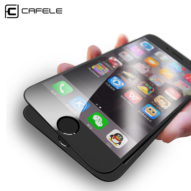 Galleria fotografica CAFELE 4D Curved Edge Tempered Glass for iPhone 6s 7 plus Glass Full Cover Protective 4D Screen Protector for iPhone 6 7 Plus
