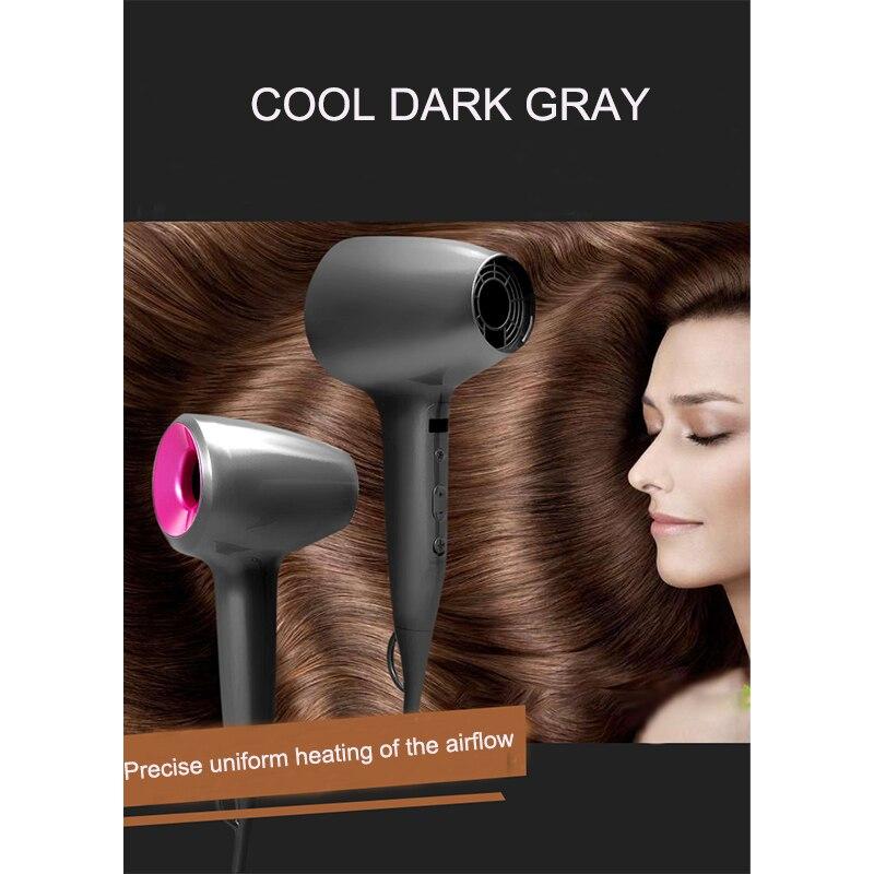 Nuevo secador de pelo sin hojas sensor táctil control de temperatura inteligente de alta calidad