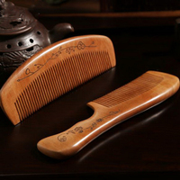 220820 Large Peach Comb Curly Hair Comb Anti Static Sandalwood Hair Small Comb Hair Loss Hair