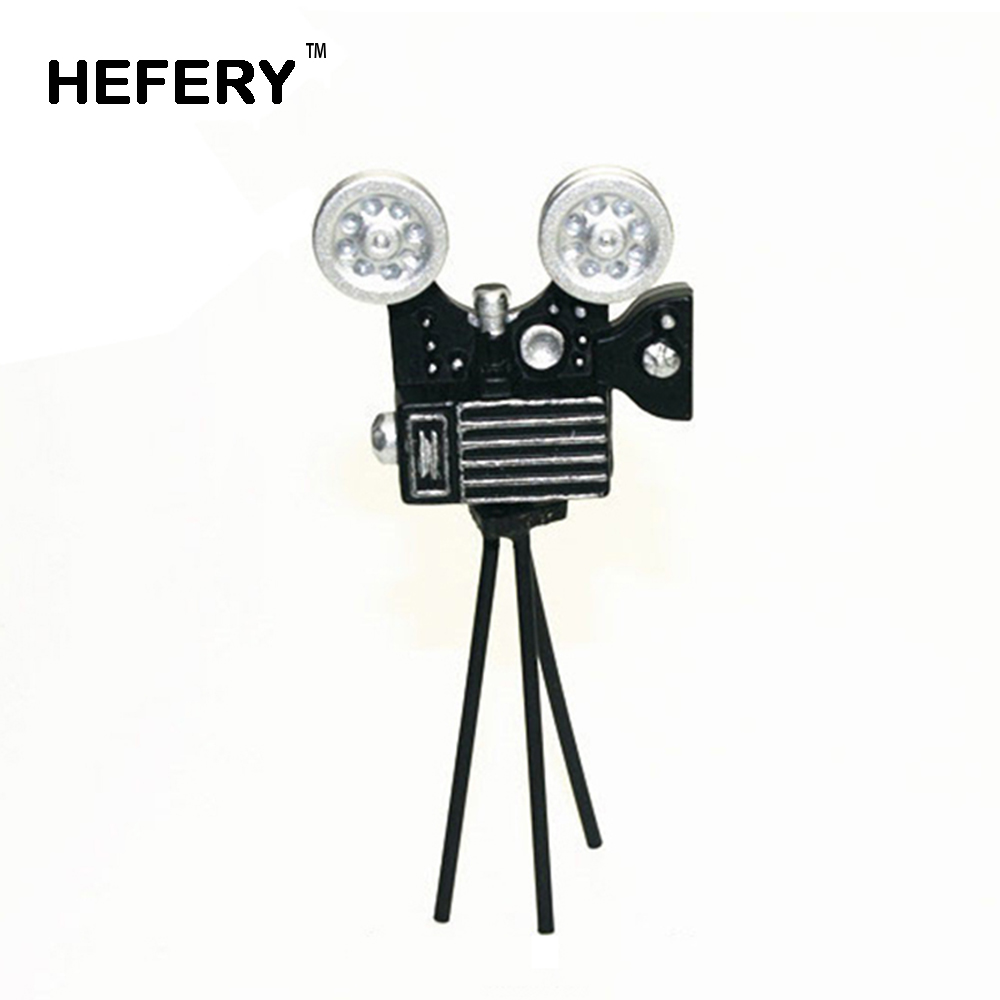 1/12 Dollhouse Miniature Accessories Mini Metal Retro Projector Simulation Furniture Model Toys For Doll House Decoration