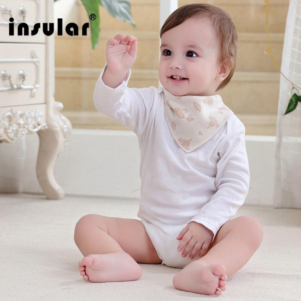 New Arrival Natural Colored Cotton Newborn Baby Bibs Soft Bib Burp Cloth For Babies Girls Boys Bib Babies Clothing