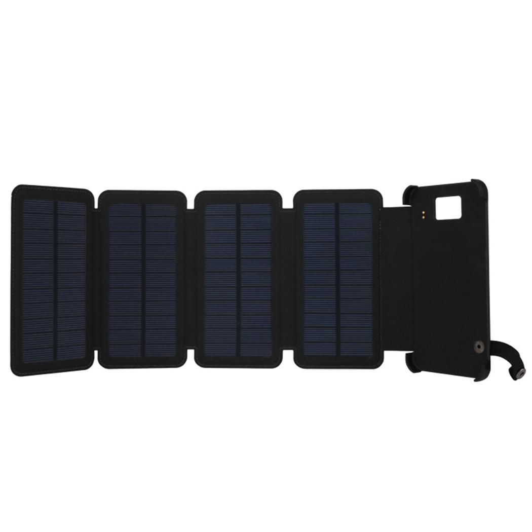 Dual USB Port Outdoor Portable Folding Foldable Waterproof Solar Panel Charger Mobile Power Bank 10000mAh for Cellphone Battery