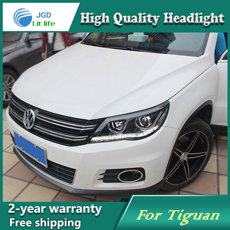 high quality Car Styling Head Lamp case for VW Tiguan 2010-2012 LED Headlight DRL Daytime Running Light Bi-Xenon HID Accessories car rear trunk security shield cargo cover for volkswagen vw tiguan 2016 2017 2018 high qualit black beige auto accessories