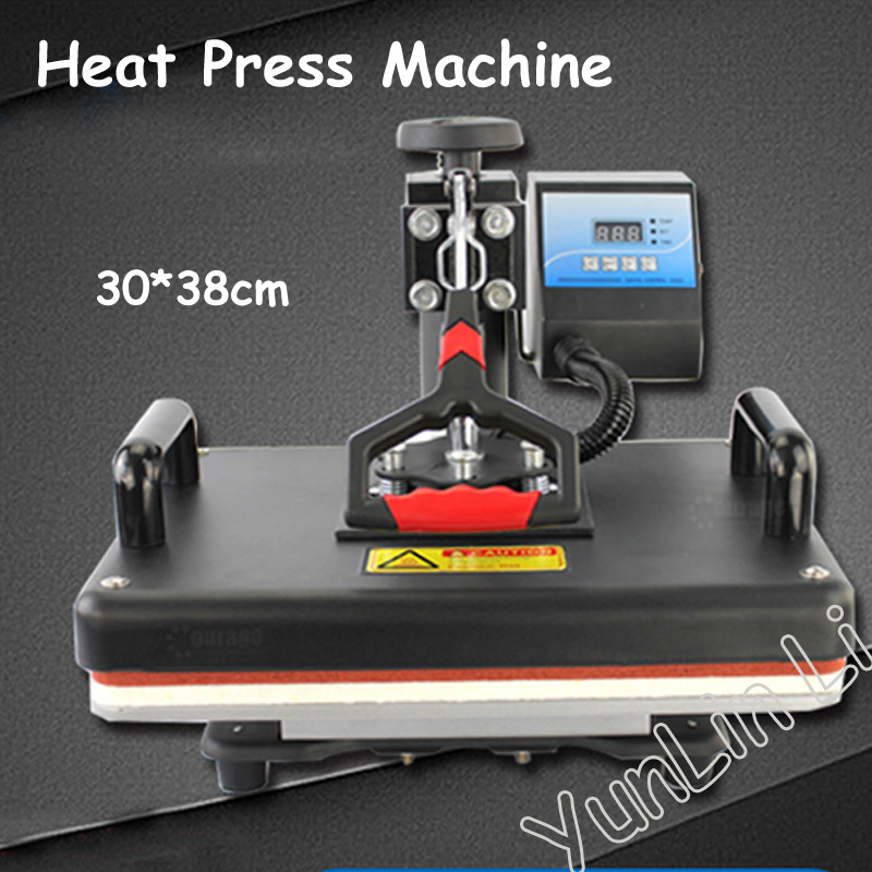 30*38cm T-shirt Swing Away Heat Press Machine/ Shaking Head Heat Transfer Sublimation Machine cap heat press machine digital swing away heat press for caps hat heat press print sublimation personalised baseball snapback