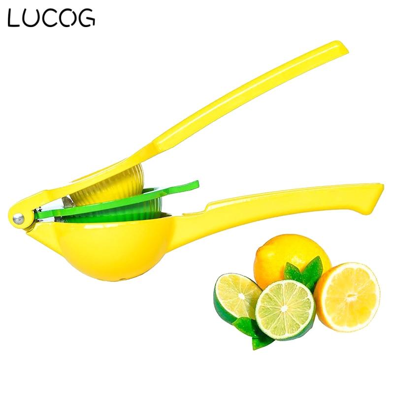 LUCOG Manual Lemon Fruit Juicer Premium Quality Metal Lemon Lime Squeezer Enameled Aluminum Lemon Tools