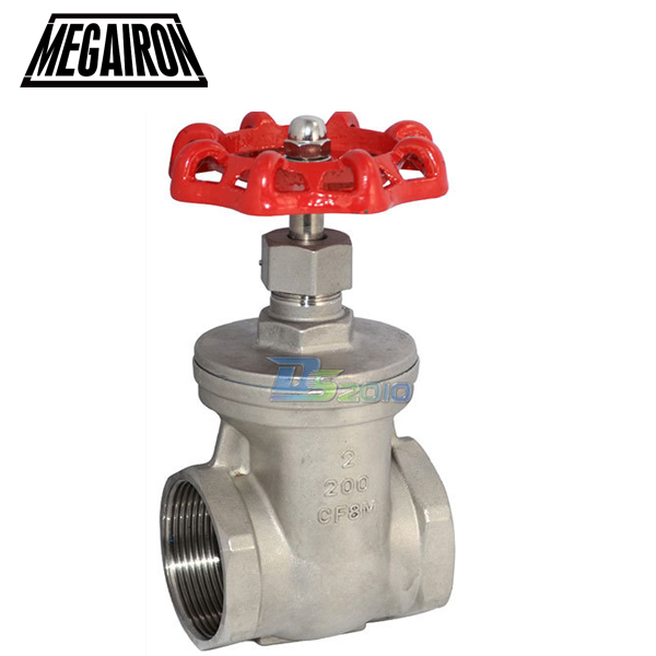 MEGAIRON 2 DN50 Stainless Steel SS316 Thread Female Gate Valve CF8M Heavy Duty Max 200Psi 1 2 globe valve stainless steel ss 316 cf8m heavy duty new page 3 page 1