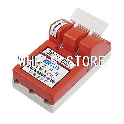 AC 380V 63A 3 Poles Circuit Control Open font b Knife b font Disconnect Switch