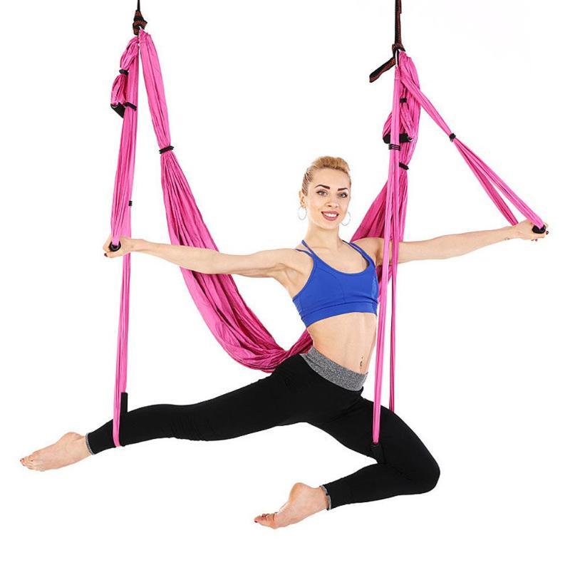 Yoga Balançoire Hamac Parachute Tissu Swing la Thérapie D'inversion Anti-gravité Décompression Vol De Yoga Hamac Hamac De Yoga Gym