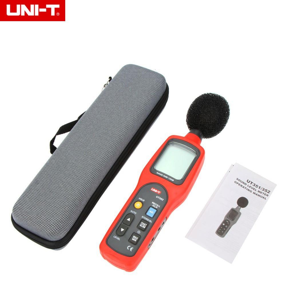 UNI-T UT352 Digital Sound Level Meter Decibel Meter Noise Tester 30-130dB LCD Backlight цены