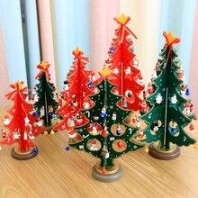 DIY Christmas Decoration Wooden Xmas Tree Mini Table Xmas Trees Decoration Wood Christmas Tree For Christmas Home Decorations