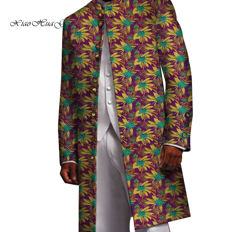 Men Blazer Long Fancy African Men Clothes Suit Jacket Dashiki Tops Coat Flower Blazer Wedding Dress Suit Casual  WYN658