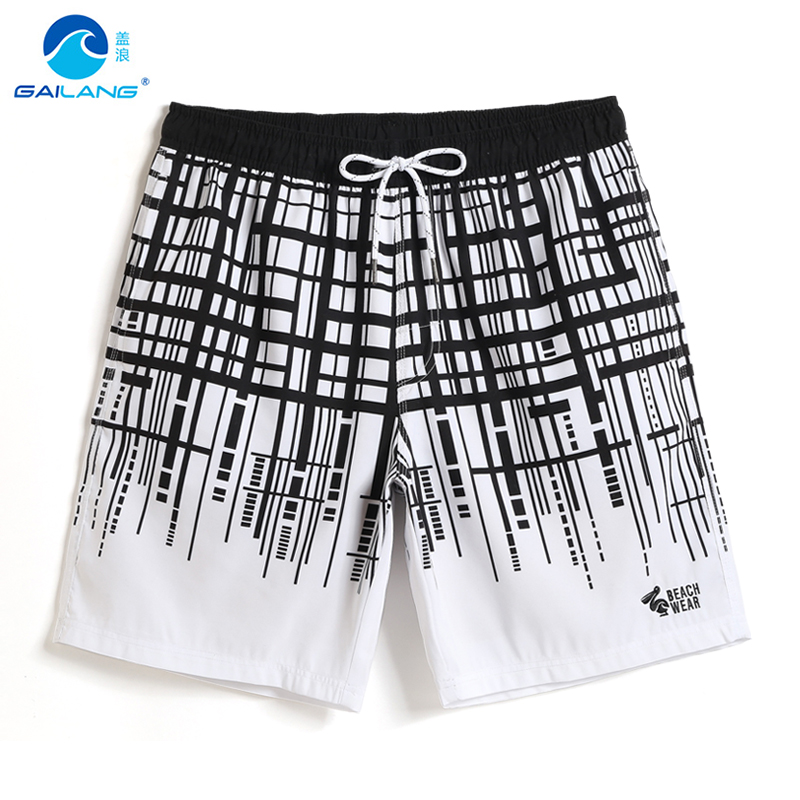 Men's New 2019 swimming trunks hawaiian sexy mesh   shorts   swimwear   board     shorts   quick dry surfing briefs swimsuit liner