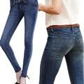 2017 women AA fashion spring autumn trousers Vintage Denim Blue high waist Jeans Casual Stretch Skinny Female Elastic BF Pants