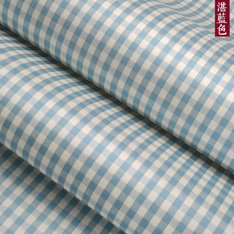 Купить с кэшбэком Vertical Stripes Yellow Green Blue Square Lattice Wallpaper Bedroom Bedside Restaurant Room Studio Wallpapers