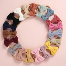 Baby Headband Bow Headbands For Girl Corduroy Head Band Thin Nylon Hairband Newborn Kids