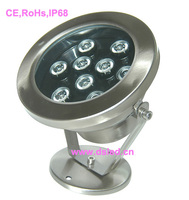 CE IP68 good quality high power 9W LED outdoor spotlight LED outdoor light 12V DC DS-10-12-9W 2-year warranty