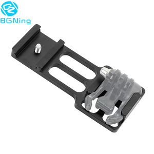 Image 5 - Upgraded CNC Aluminum 20mm Gun Side Rail Mount for Gopro Xiaoyi Gitup Sport Action Camera for Hunters Airsoft Player Accessories