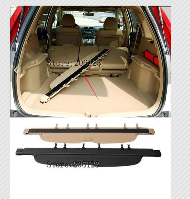 Brand New! Fabric Rear Trunk Security Shield Cargo Cover Beige For <font><b>Honda</b></font> CRV <font><b>CR</b></font>-<font><b>V</b></font> <font><b>2007</b></font> <font><b>2008</b></font> <font><b>2009</b></font> <font><b>2010</b></font> 2011 image